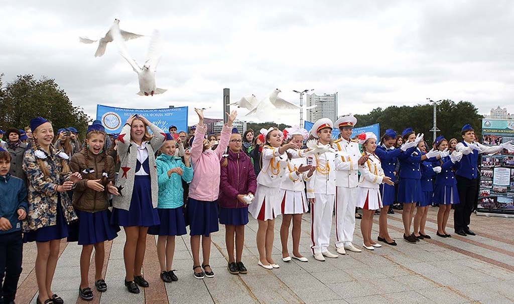 Митинг посвященный Международному дню мира прошел в Минске  7