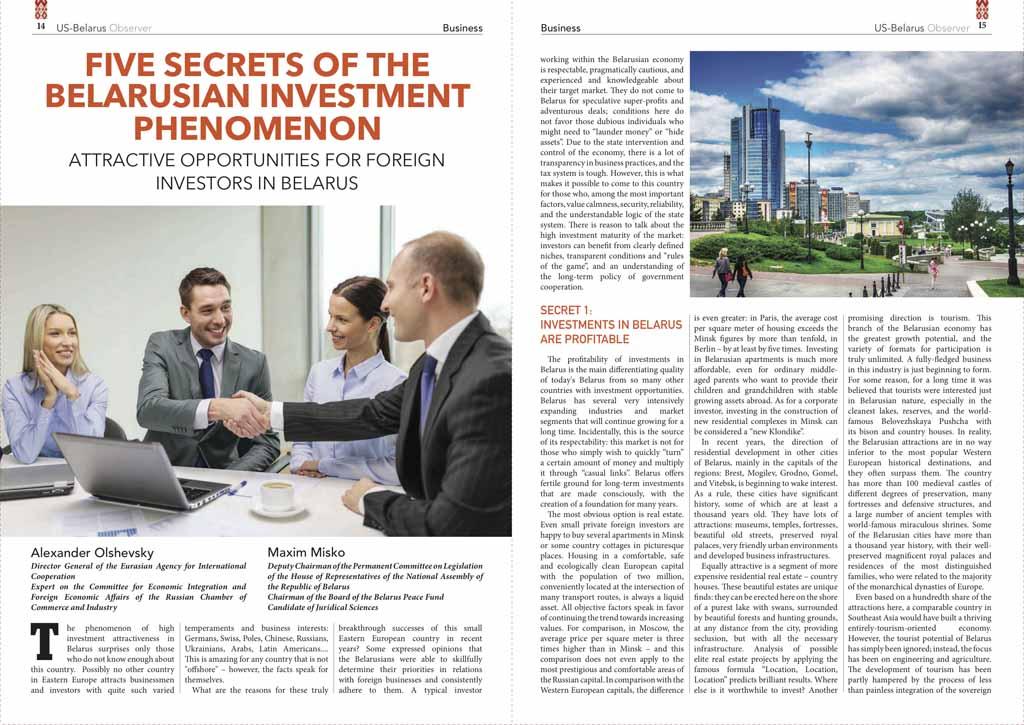 Five secrets of the Belarusian investment phenomenon 1