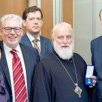 Митрополиту Павлу времена медаль «Заслуженный миротворец» 1